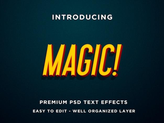 Magic, premium 3d-teksteffecten psd Premium Psd