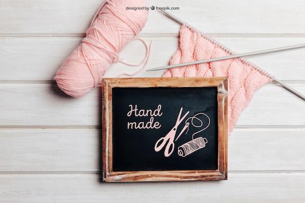 Maglieria a maglia con lana rosa Psd Gratuite