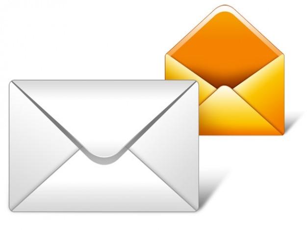 Mailpictogram psd Gratis Psd