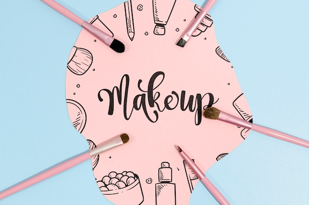 Make-up achtergrond met letters Gratis Psd