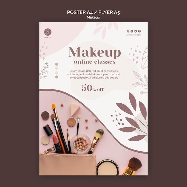 Make-up concept sjabloon folder Gratis Psd