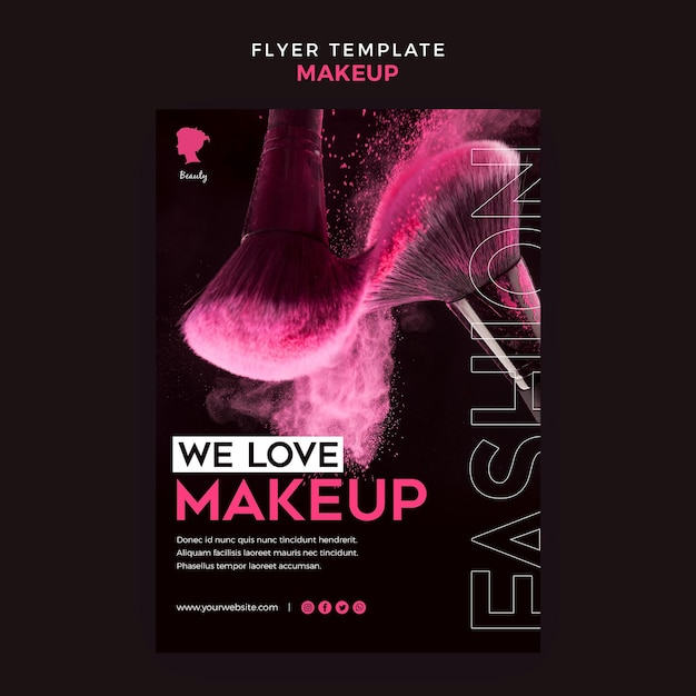 Make-up flyer-sjabloon Gratis Psd