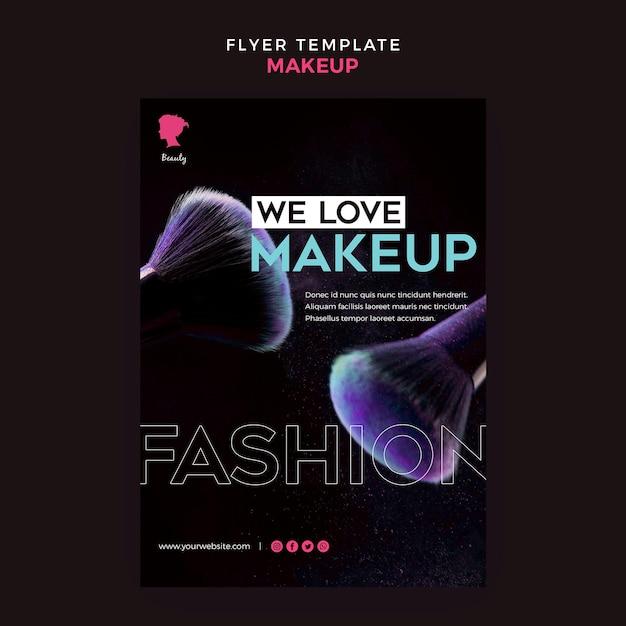 Make-up flyer sjabloonontwerp Gratis Psd