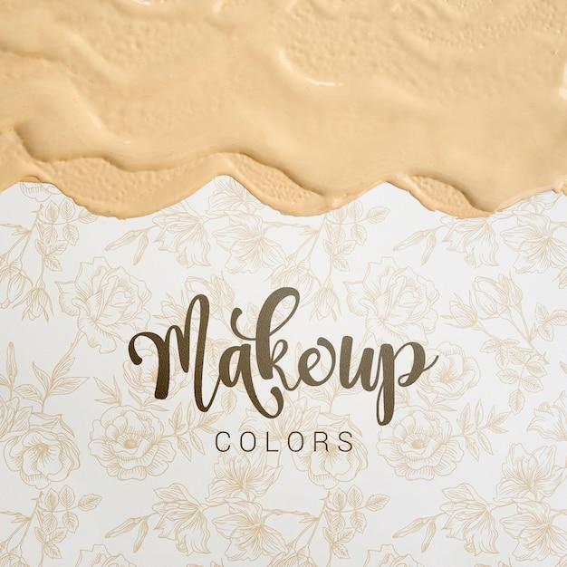 Make-up kleuren met letters Gratis Psd