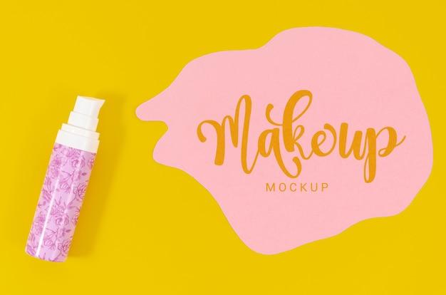 Make-up mock-up met letters Gratis Psd