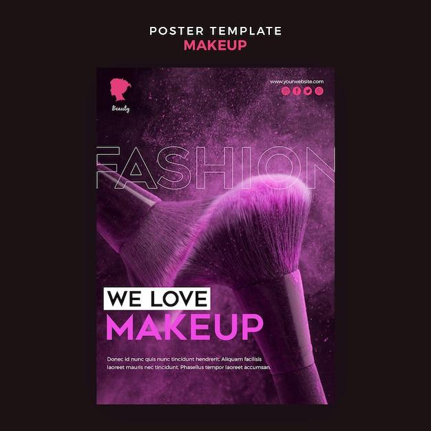Make-up poster sjabloon concept Gratis Psd