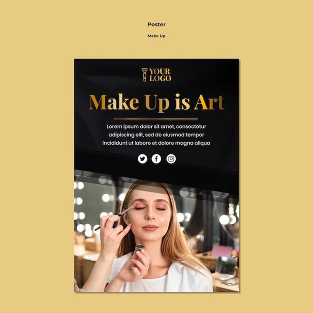 Make-up poster sjabloon Gratis Psd