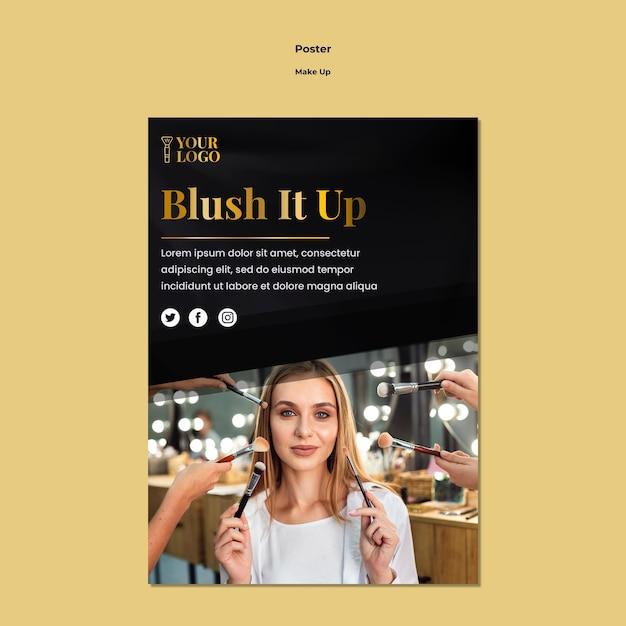 Make-up poster sjabloonontwerp Gratis Psd