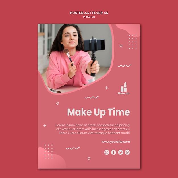 Make-up producten flyer sjabloon Gratis Psd