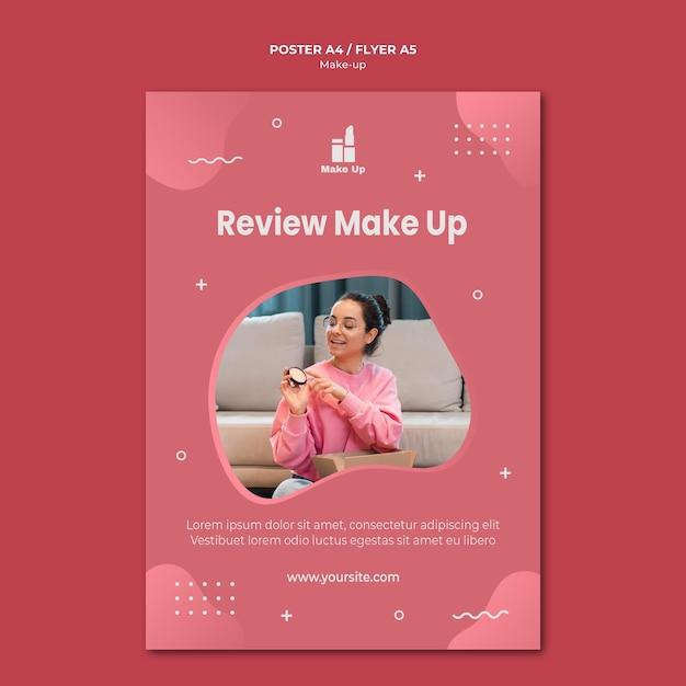 Make-up producten poster sjabloon Gratis Psd