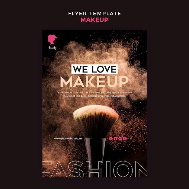 Make-up sjabloon folder thema Gratis Psd