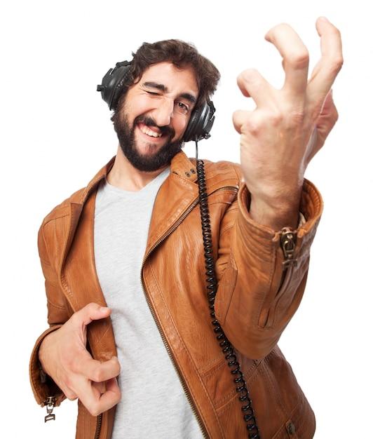 Man spelen een lucht guita Gratis Psd