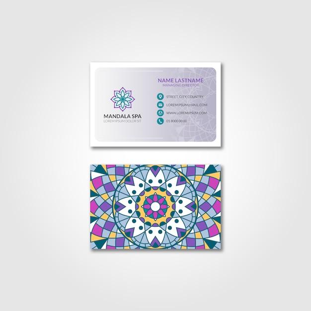Mandala visitekaartjes mockup Gratis Psd