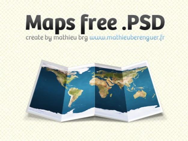 Mapa psd Psd Gratis