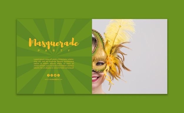 Maqueta de banner de carnaval PSD gratuito