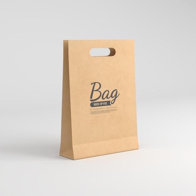 Maqueta de bolsa de papel PSD Premium