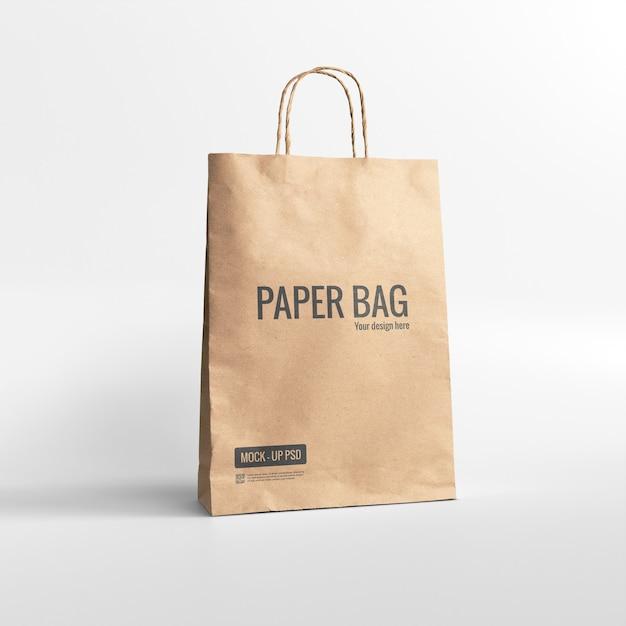 Maqueta de bolsa de papel PSD gratuito