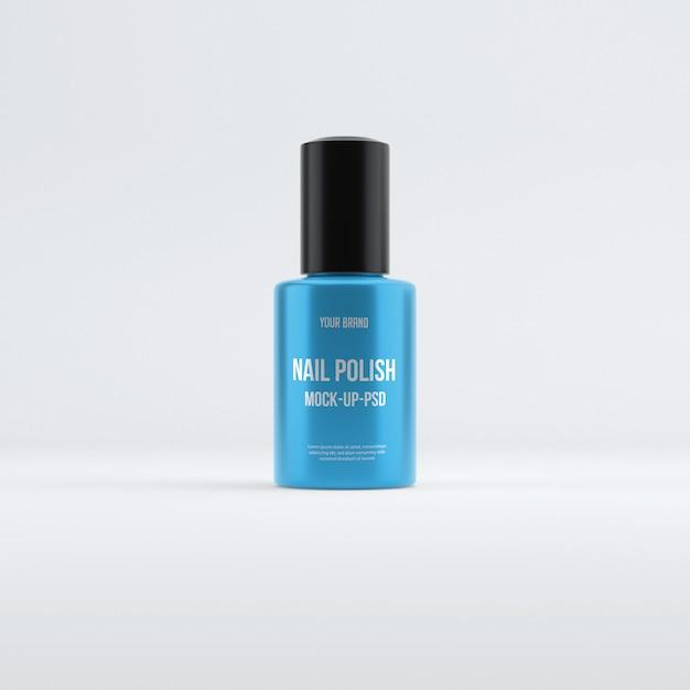 Maqueta de botella de esmalte de uñas PSD Premium