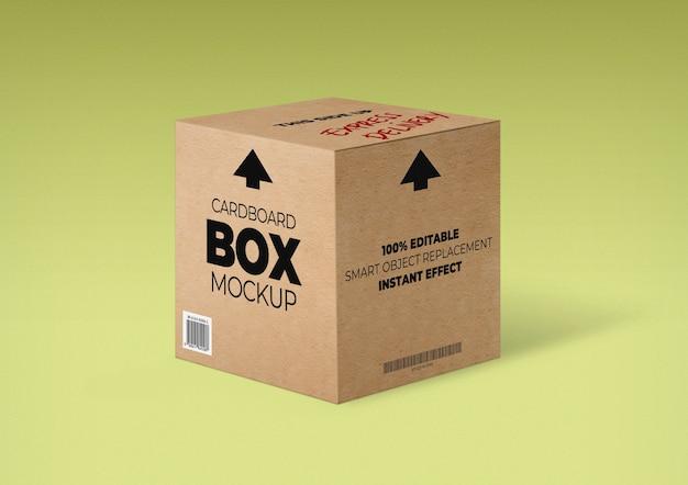 Maqueta de caja de cartón PSD gratuito