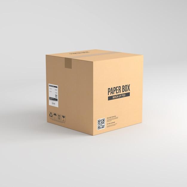 Maqueta de caja de papel PSD Premium