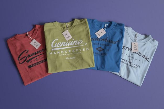 Maqueta de camiseta de color PSD gratuito