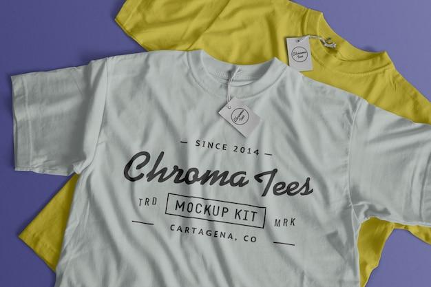 Maqueta de camiseta de cromatos PSD gratuito