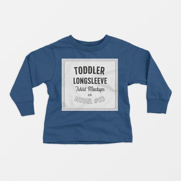 Maqueta de camiseta de manga larga para niños pequeños 03 PSD gratuito