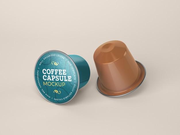 Maqueta de cápsula de café PSD gratuito