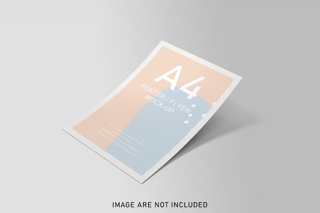 Maqueta de carteles con color suave PSD Premium