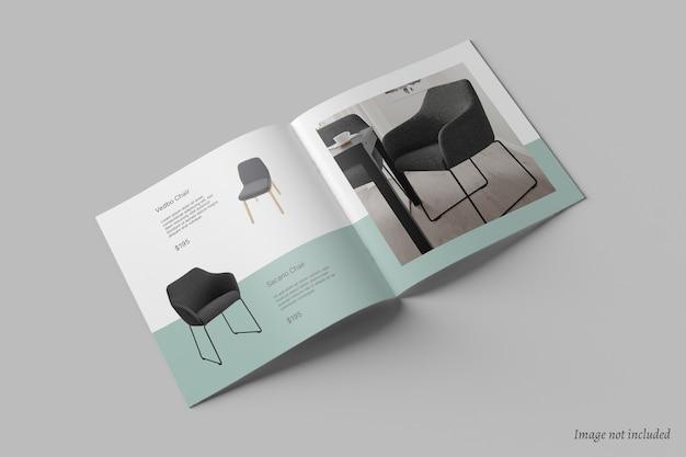 Maqueta de catálogo y folleto cuadrado PSD Premium