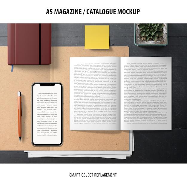 Maqueta del catálogo de la revista PSD gratuito