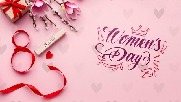 Maqueta de celebración del día de la mujer PSD gratuito