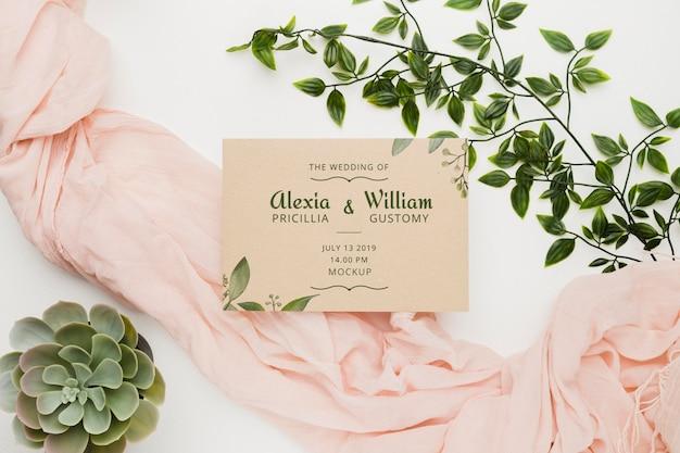 Maqueta de concepto de boda hermosa PSD gratuito