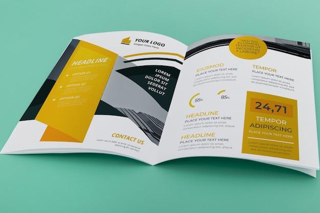 Maqueta de concepto de folleto doble PSD gratuito
