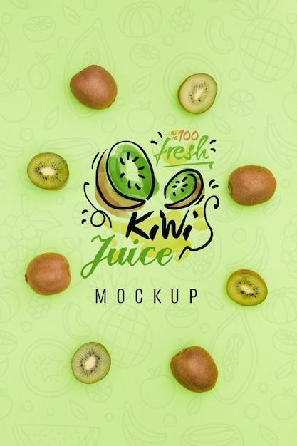 Maqueta de concepto de fruta deliciosa PSD gratuito