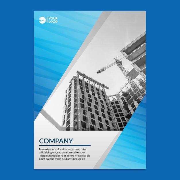 Maqueta corporativa de reporte anual PSD gratuito