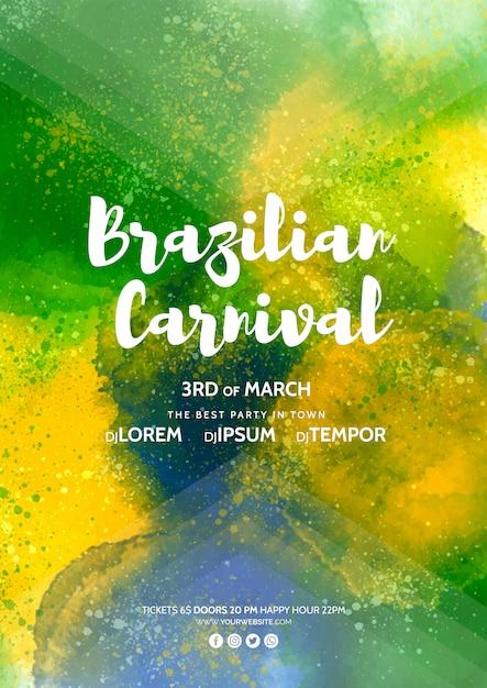 Maqueta de cover de carnaval PSD gratuito