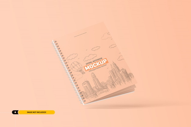 Maqueta de cuaderno espiral PSD Premium