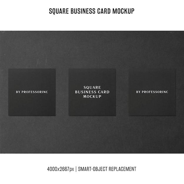 Maqueta cuadrada de la tarjeta de visita PSD gratuito