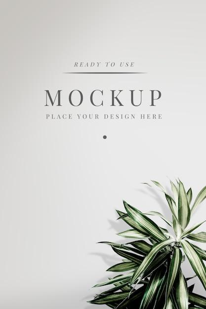 Maqueta de cubierta floral PSD gratuito