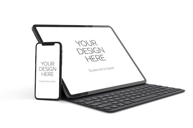 Maqueta de dispositivo PSD Premium