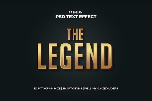 Maqueta de efecto de texto dorado PSD Premium