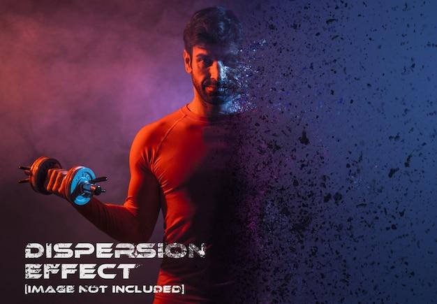 Maqueta de efectos fotográficos de dispersión PSD Premium