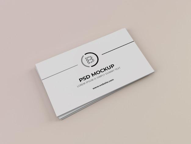 Maqueta elegante de la tarjeta de visita PSD Premium