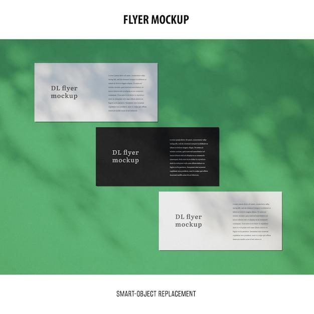 Maqueta de flyer PSD gratuito