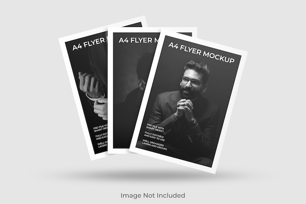 Maqueta de folleto flotante a4 PSD Premium