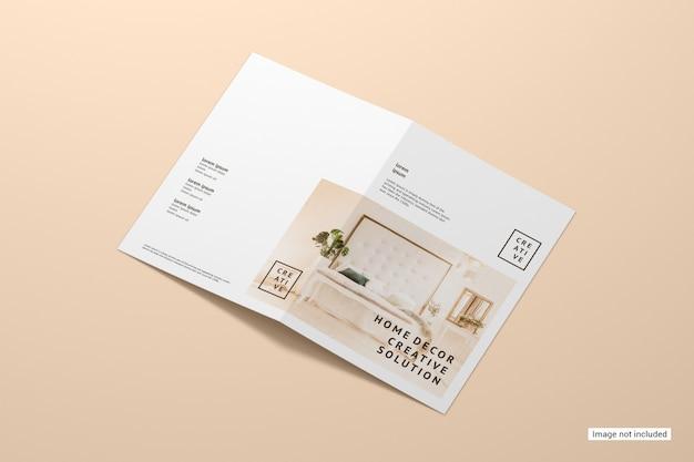 Maqueta de folleto plegable PSD gratuito