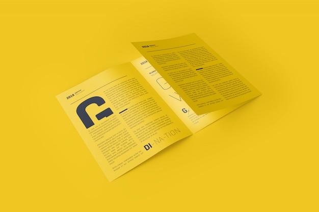 Maqueta de folleto tríptico 3xa4 PSD Premium