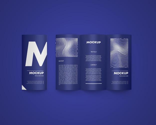 Maqueta de folleto tríptico a4 PSD Premium