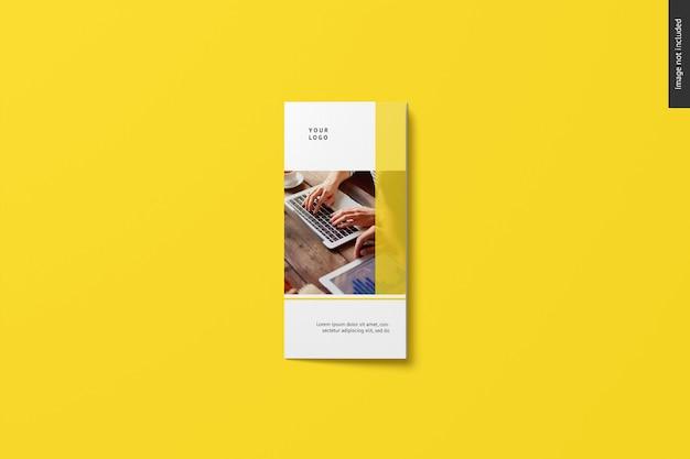 Maqueta de folleto tríptico PSD gratuito